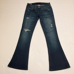 Authentic True Religion Carrie Flare Jeans  Sz 26